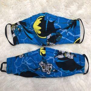 Batman Lot Of 2 Kids Face Masks